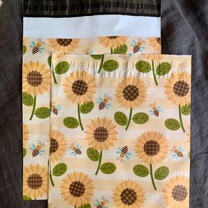 Other - Polymailers • Sunflowers + Bumblebees • 10x13